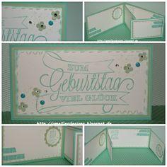 Stampin Up, Karte, Birthday Card, Zum Geburtstag , Dein Tag , Wimpeleien, Jade , Pistazie, Washi Tape
