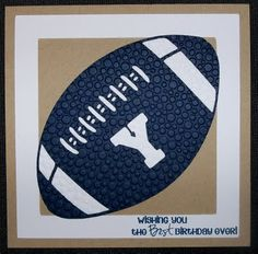 Glora's Crafts: Football Themed Birthday Cards