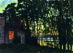 "Stanislav Zhukovsky (Polish/Russian, 1873 - 1944)  ""Night in July"", 1916"