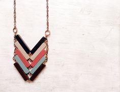 Wood Chevron Necklace / Valentina Rivelli #Fuorisalone2016 #Lambrate