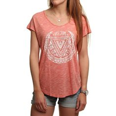 Volcom Got Your Back Tee Burnt Sienna - T-shirts - Fashion - Ladies at…