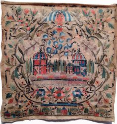 Embroidery Ottoman 18th century. Showing the influence of Rococo on Ottoman design.
