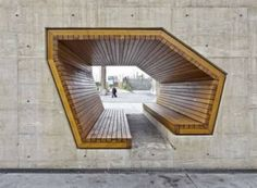 AllesWirdGut Architektur have converted an abandoned steel mill into a sleek public park, leaving many of the old structural remnants in place. The bi-level tunnel bench is especially brilliant