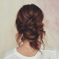 Messy hair
