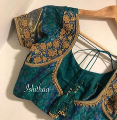 Simple glass beads embellished blouse customised at Ishithaa Design House . Ping on 9884179863 to book an appointment. Best Blouse Designs, Simple Blouse Designs, Silk Saree Blouse Designs, Bridal Blouse Designs, Hand Work Blouse Design, Churidar, Anarkali, Lehenga, Bollywood Outfits