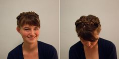 Milkmaid braids for sassy short haired chicks. Can't wait to try this out and do my best yodel.