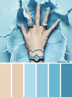 100 Color Inspiration Schemes : Taupe + Blue Color Palette #color #colorpalette #taupe