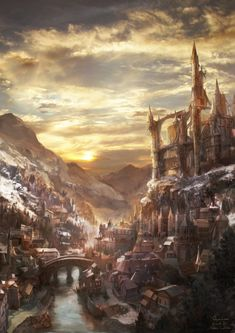 Replace the mountains with the ocean and get rid of the snow, and then it's perfect for the capitol city of Merceron!