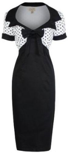 Lindy Bop 'Laney' Chic Vintage Style Black Bengaline Pencil Wiggle Dress (S) Vintage Inspired Fashion, Vintage Inspired Dresses, Vintage Style Dresses, 1950s Fashion, Vintage Fashion, Mode Rockabilly, Rockabilly Fashion, 1950s Style, Mode D'inspiration Vintage