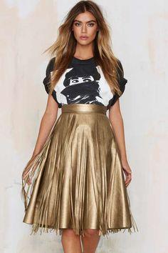 Frisky Gypsy Fringe A-line Skirt