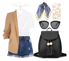 """Casual chick"" by mxgvi ❤ liked on Polyvore featuring T By Alexander Wang, River Island, Le Specs, Black and Kate Spade"