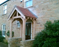 Chunky oak open porch