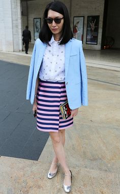 Jerri from New York Fashion Week Spring 2015 Street Style  This is how to mix and match prints the right way.