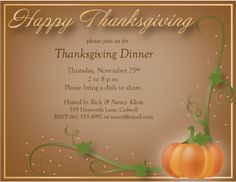 21 Best Thanksgiving Invitations Images Thanksgiving Invitation
