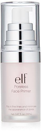 Elf Poreless Primer 047 Fluid Ounce -- Click the image link for more details. Elf Poreless Face Primer, Skin Primer, Elf Makeup, Makeup Dupes, Face Makeup, How To Apply Foundation, Face Foundation, Foundation Primer, Make Up