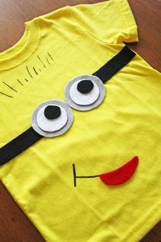 DIY minion felt t-shirt