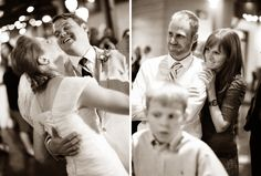 getting the guests reactions to the first dance and father daughter dances, wedding photo idea