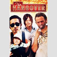 Chandler Riggs, Steven Yeun, Norman Reedus and Andrew Lincoln in The Hangover | twdnotofficial (IG)  Tags: #twd #thewalkingdead #walkingdead #twdparodyposters #carlgrimes #glennrhee #daryldixon #rickgrimes #chandlerriggs #stevenyeun #normanreedus #andrewlincoln
