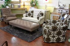 Aico/Michael Amini Loveseat & Accent Chairs - Colleen's Classic Consignment, Las Vegas, NV - www.cccfurnishings.com