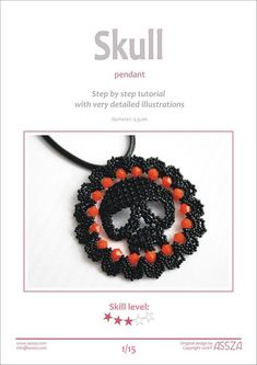 Beaded skull tutorial for necklace pendant so pretty and can be done as just the skull Diy Jewelry, Jewelry Making, Do It Yourself Jewelry, Beading Needles, Skull Pendant, Skull Necklace, Beaded Skull, Fabric Beads, Halloween Skull