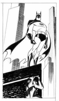 Batman by Bruce Timm Bruce Timm, Batman Art, Batman And Superman, Spiderman, Batman Arkham, Batman Robin, Character Art, Character Design, D Mark