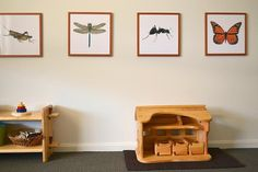 Montessori artwork at child's height