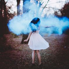 I found this image on Tumblr and it inspired me to use smoke grenades in my shoot. I have used them before and they are easy to get hold of and create a nice effect. I want my image to show the model surrounded my coloured smoke in the forest.