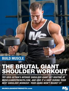 Check out Kris Gethin's intense shoulder giant set routine and give it a shot during your next shoulder workout. Your future pump & gains won't regret it!