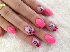 Nail Art linda e delicada!!! Tudo casou perfeitamente, desde as cores até o desenho... Os melhores produtos para suas unhas você encontra em: www.lojadeesmaltes.com.br