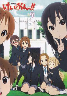 K-On!   Kakifly   Kyoto Animation / K-ON!! DVD Vol. 9 Cover / Hirasawa Yui, Tainaka Ritsu, Akiyama Mio, Kotobuki Tsumugi, Manabe Nodoka, Nakano Azusa, Hirasawa Ui, and Suzuki Jun