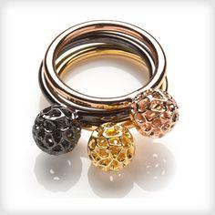 08b6d38db Rachel Galley Mini Globe Ring-Designer Dress Rings-Designer Jewellery |  Cotton Rose Gold