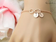 Personalized Infinity Bracelet Personalized von MyTinyStarShining