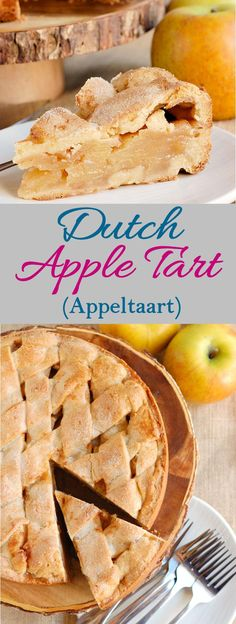 Dutch Apple Tart is made with a brown sugar cookie crust and a simple apple filling. This recipe is from my Dutch mother-in-law. Dutch Recipes, Tart Recipes, Apple Recipes, Sweet Recipes, Baking Recipes, Pastry Recipes, Rustic Apple Tart, French Apple Tart, Dutch Apple