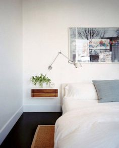 floating bedroom side table