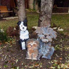 Repurposed wooden wall dogs
