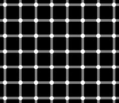 When you stare at any white dot you can clearly see that it's just a white dot, and nothing more. But all around, the other white dots have illusionary black dots within them!