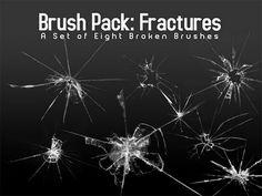 4 packs de pinceles de vidrio roto para Photoshop #Brushes