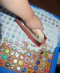 DIY Cheap and Chic Bottlecap Table | My So Called Crafty Life