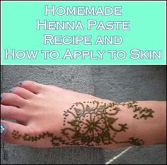Homemade Henna Paste Recipe and Apply to Skin Homesteading  - The Homestead Survival .Com