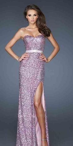 Lilac sparkly prom dress
