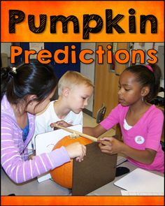 Pumpkin Predictions Measurement Fun - Shh! It looks like a Halloween activity, but it's not! Awesome lesson for upper elementary students that involves estimation and measurement.