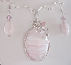 Wire Inspirations — Mangano Calcite - Wire Wrapped Pendant
