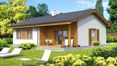 Je veľmi útulný a vhodne disp… Beautiful House Plans, Simple House Plans, Simple House Design, Modern House Design, Small Modern House Plans, Style At Home, One Storey House, House Construction Plan, Indian Home Design