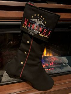 Items similar to USMC Dress Blues Christmas Stocking on Etsy Military Girlfriend, Military Love, Military Spouse, Military Relationships, Blue Christmas Stocking, Christmas Stockings, Christmas Ideas, Christmas Decorations, Marine Boots