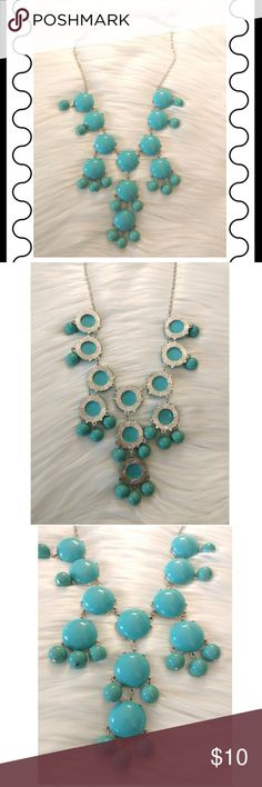 Bright Blue Bubble Necklace Bright blue bubble necklace. Jewelry Necklaces