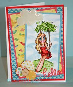 Card my Melissa Oeters using Swing Mae #digitalstamp by Some Odd Girl. #springcard #someoddgilrlMae