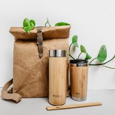 The ultimate gift set or starter kit for anyone looking to reduce the amount of waste they produce with stylish eco-friendly products. It comes in a lovely recycled red cardboard box with ribbon, making it the ideal zero waste gift for Christmas. This kit includes:Bamboo water bottle (450ml) - Made with sustainably farmed bamboo and stainless steel, this bottle has a double walled inside which keeps drinks ice cold for up to 4 hours. Bamboo coffee cup (420ml) - Barista-friendly coffee cup offeri