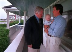 Sen. Edward Kennedy with son Edward Kennedy Jr. and grandson Edward III at the Kennedy family compound in Hyannisport, in July, 1998.