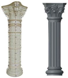 Concrete Column, Concrete Molds, Precast Concrete, Square Columns, Roman Columns, Time Saving, Plastic Molds, Stair Railing, Repeat