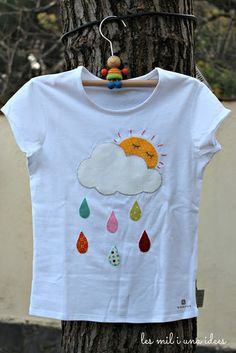 les mil i una idees: Plou i fa sol hashtags Sewing For Kids, Baby Sewing, Baby Girl Dresses, Baby Dress, Sewing Clothes, Diy Clothes, Frock Design, Baby Set, Baby Kind